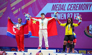 China's Wang sweeps women's 87kg division at weightlifting worlds